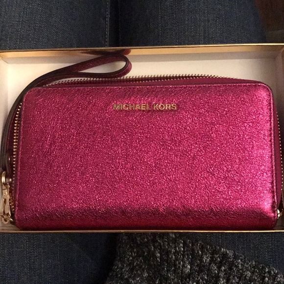 Wallet for Women On Sale, ultrapink, Leather, 2017, One size Michael Kors